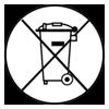 symbole poubelle barrée